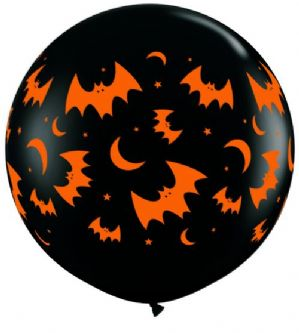 3ft Halloween Balloons | Bats & Moons | Free Delivery